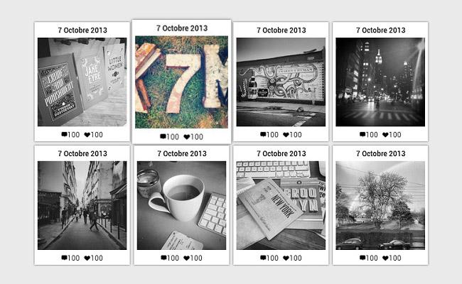 jQuery相册图片滤镜效果