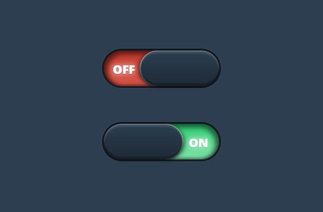 纯CSS3实现动画开关按钮特效