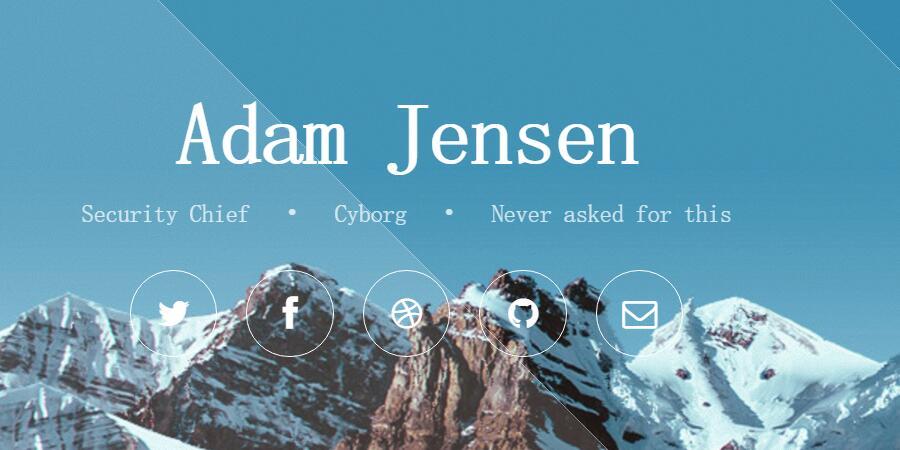HTML5美观大气全屏背景图滚动js特效代码