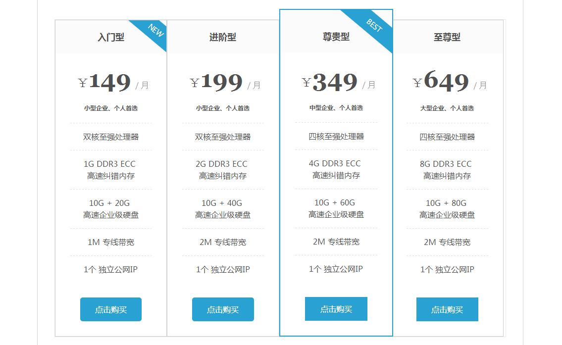 纯CSS3实现漂亮的价格表样式代码