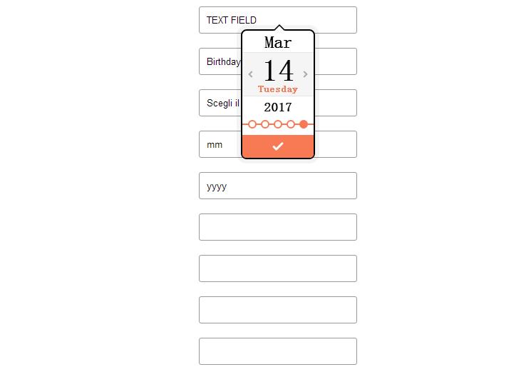 html5日历控件制作多皮肤动画日历选择器特效