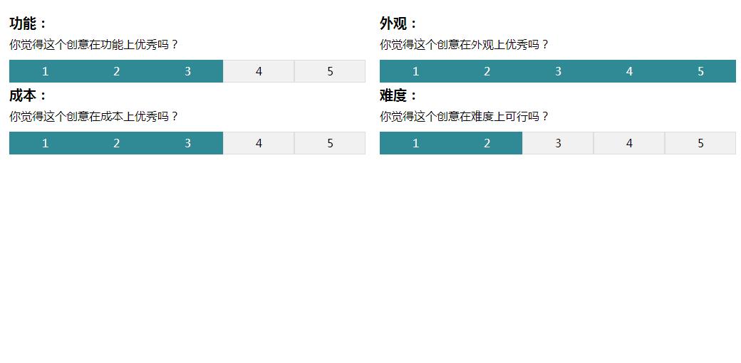 简单的jQuery用户评分代码