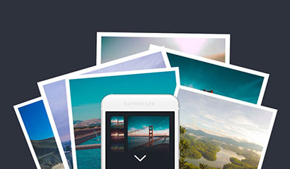 HTML5图片堆叠转瀑布流布局特效