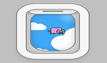 jquery+css3飞机窗口动画特效