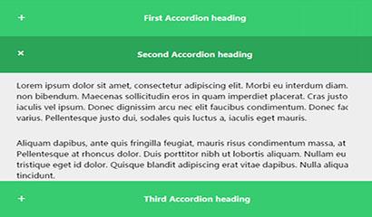 CSS3响应式垂直手风琴展开收缩特效