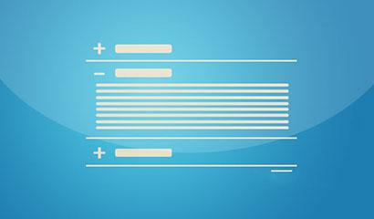 jQuery简洁线条垂直手风琴代码