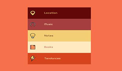 jQuery扁平UI设计垂直手风琴代码
