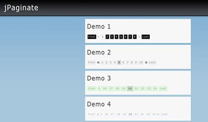 多款jQuery分页插件特效