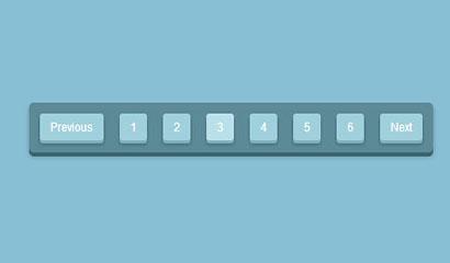 CSS3实现3D分页导航按钮
