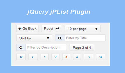 jQuery分页排序插件jPList