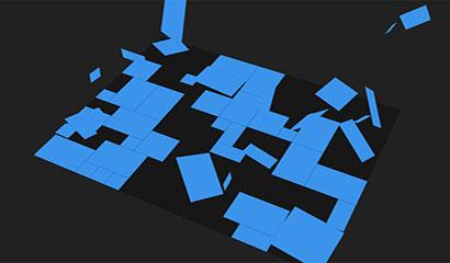 jQuery 3D方块分散动画特效