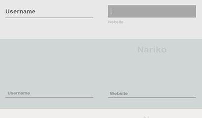 HTML5 SVG表单浮动标签特效