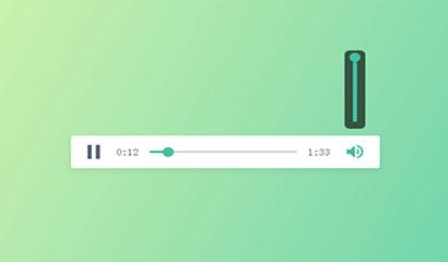 html5綠色扁平化播放器代碼
