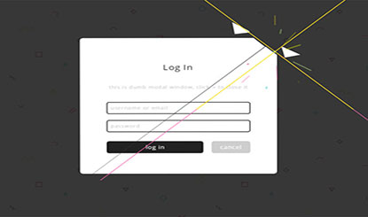 html5关闭表单窗口裂开动画特效