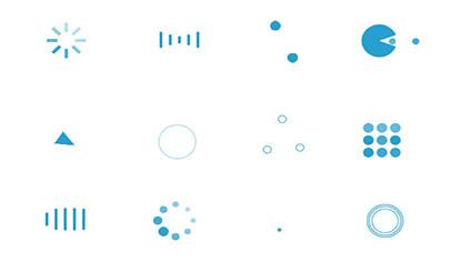 CSS3蓝色Loading加载动画特效