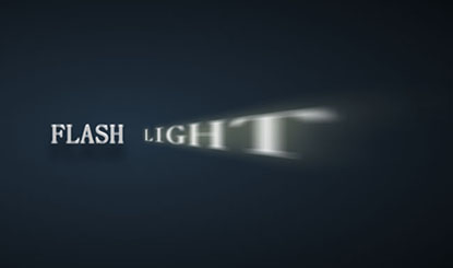 css3实现3d光线照射文字特效