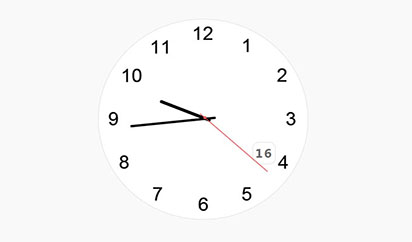jQuery带日期的指针时钟特效