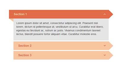 JjQuery垂直手风琴列表展示代码