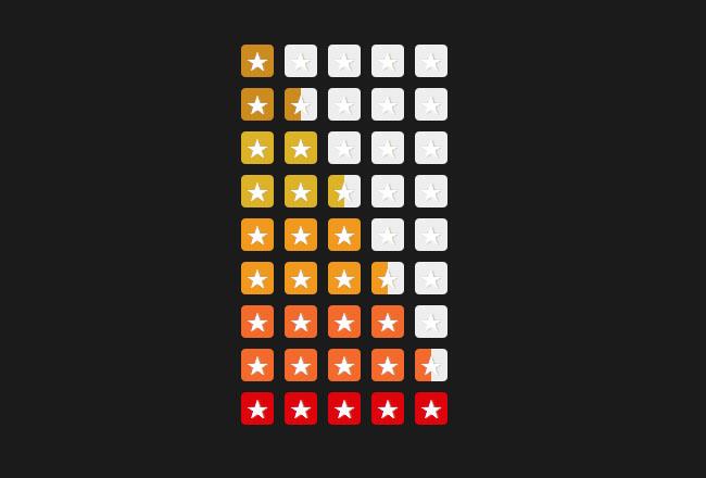 纯CSS绘制星星评分特效