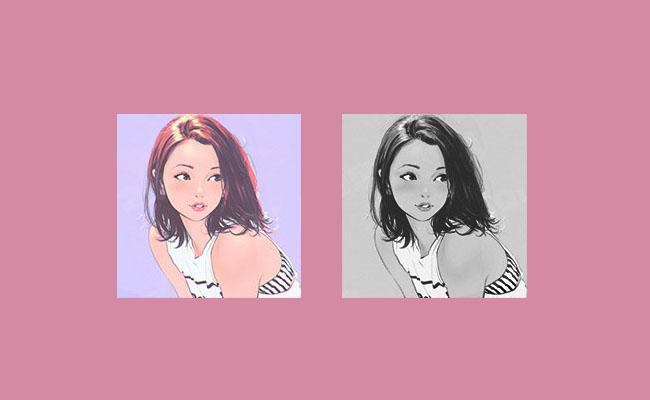 jQuery彩色圖片轉黑白圖片網頁特效代碼