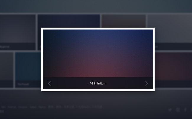 jQuery+html5横向排列相册点击弹出大图切换特效