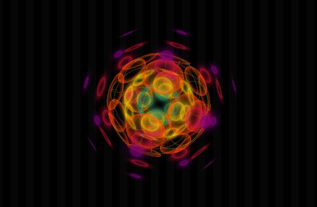 CSS3制作3D旋转科幻球体动画特效