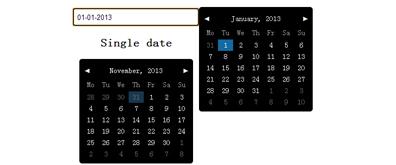 多种日历表、时间日期选择插件