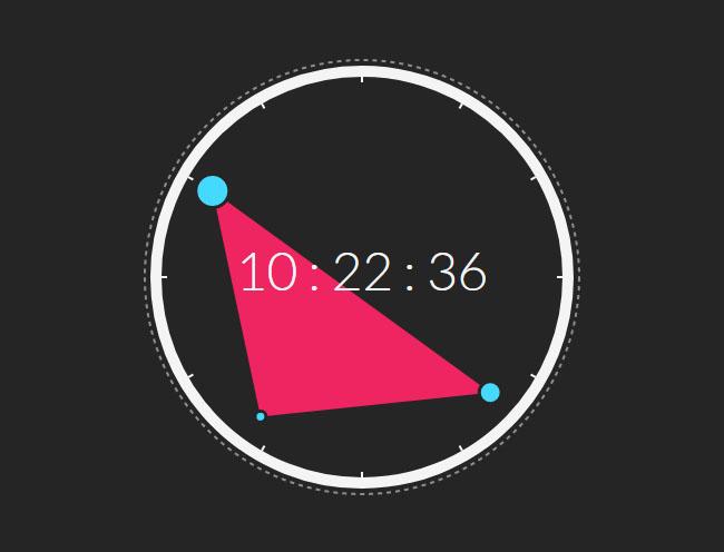 创意刻度尺圆形数字时钟代码
