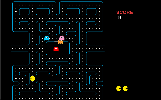 HTML5吃豆人(Pac-Man)小游戏