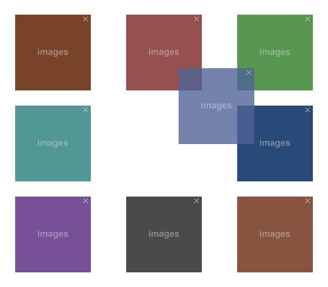 jQuery网格布局图片拖到排序代码