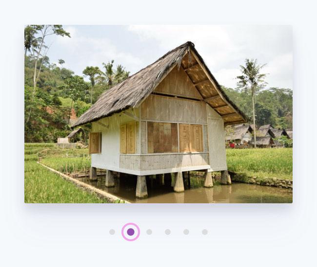 HTML5 SVG变形圆点图片切换特效