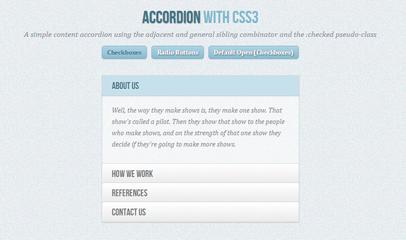 CSS3手风琴菜单特效代码