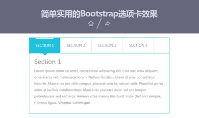 简单实用的Bootstrap选项卡效果
