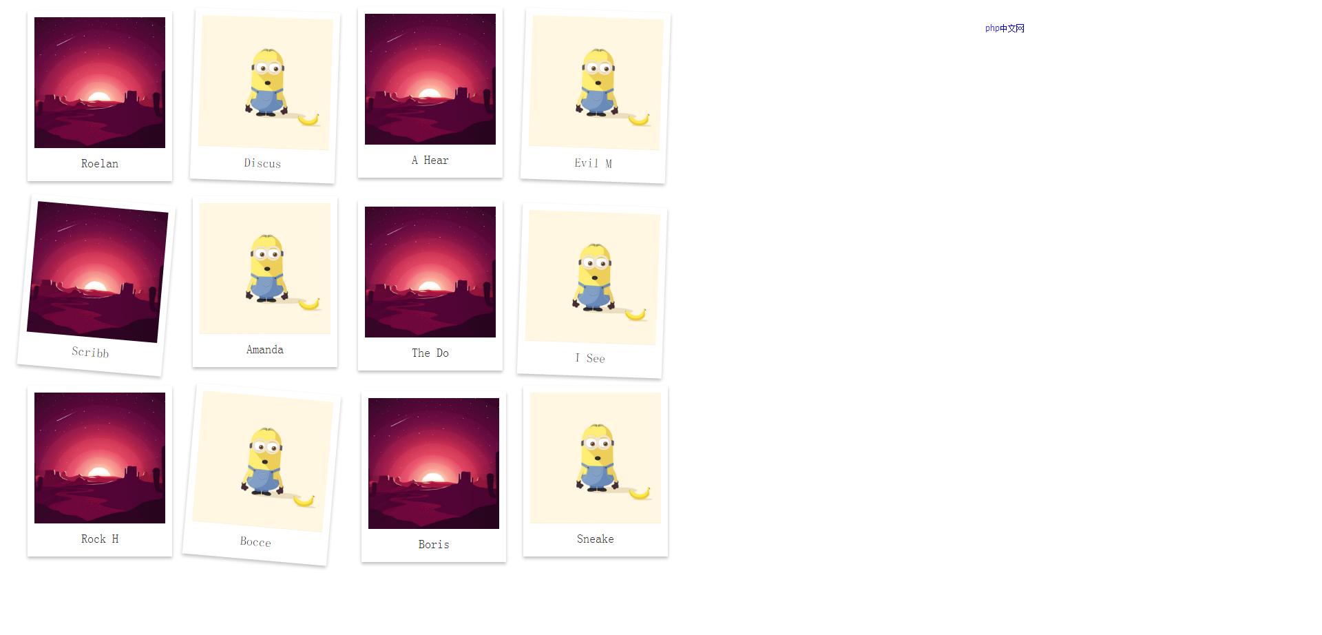 CSS3鼠标悬停图片放大效果特效