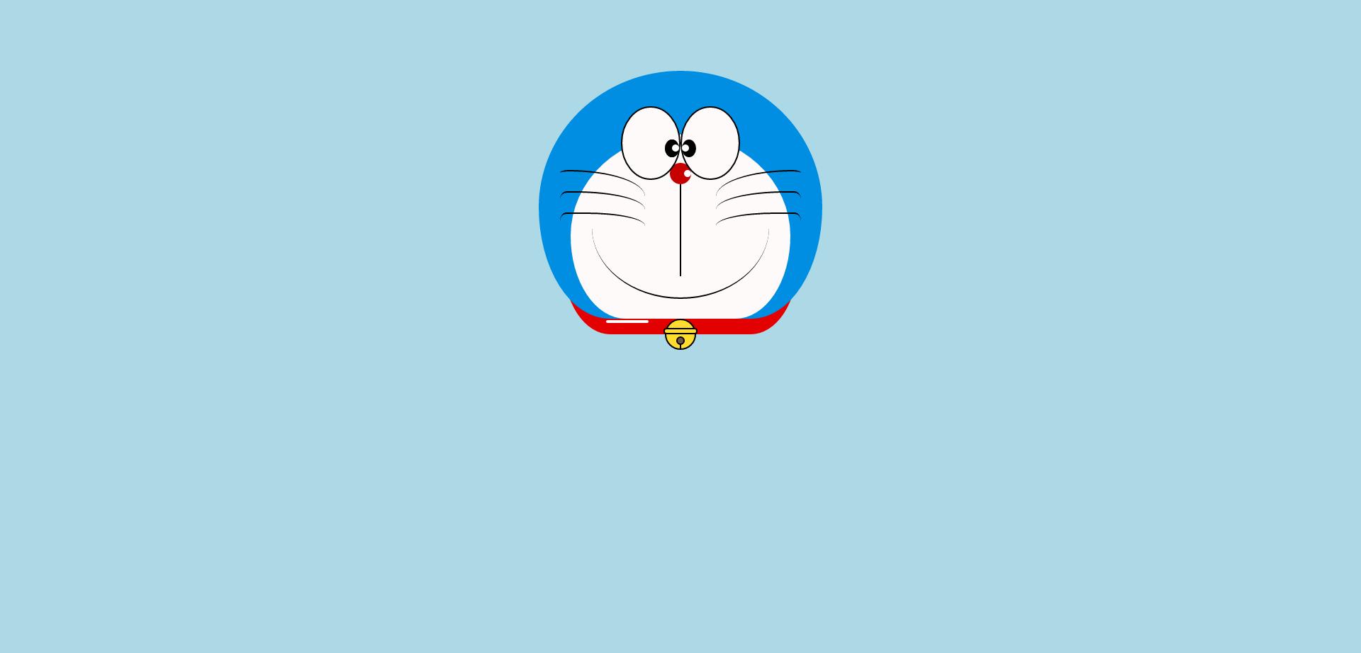 CSS3绘制哆啦A梦头像动画代码
