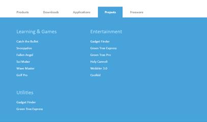jQuery微软官网全屏导航下拉菜单