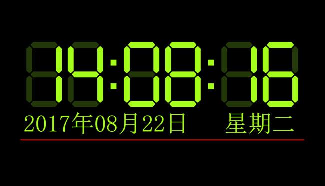 LED电子屏数字时钟JS代码