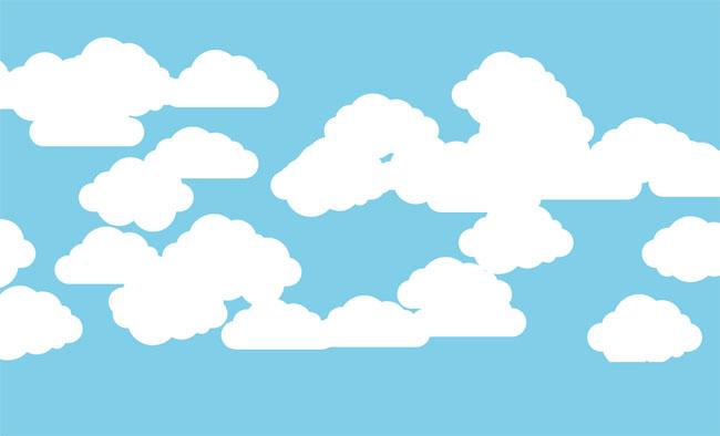 纯CSS3白云飘来飘去动画特效