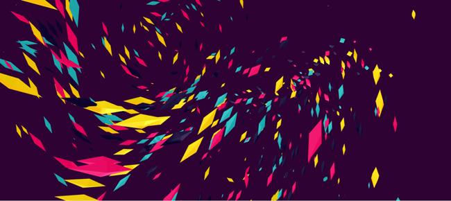 HTML5 canvas纸片3D旋转动画