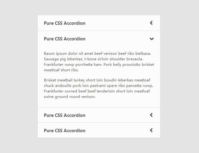 纯CSS3滑动手风琴菜单代码