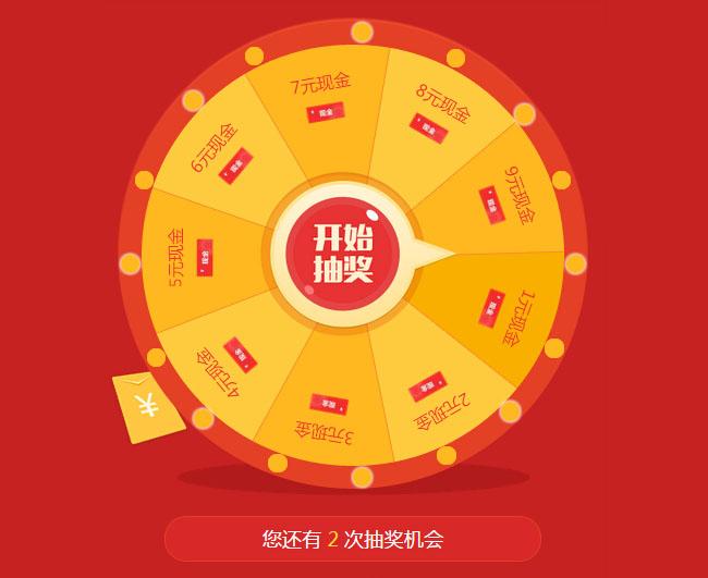 红色喜庆的jQuery手机微信抽奖代码