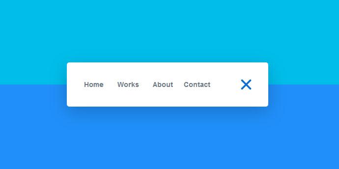 CSS3弹性展开网站动画导航菜单特效