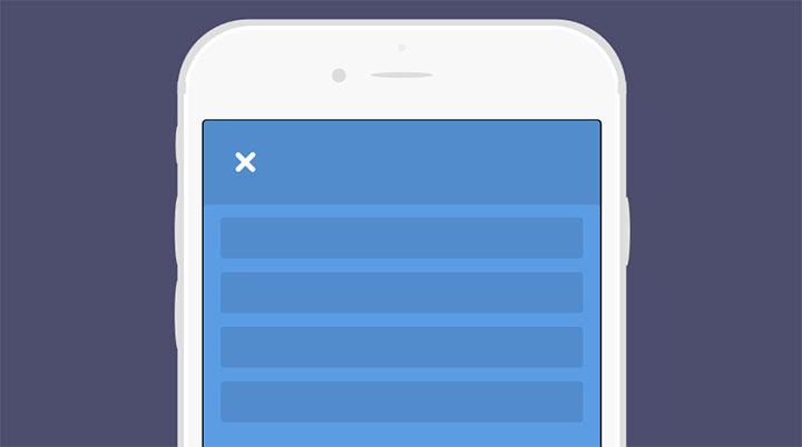 html5手机端动画展开收缩导航菜单特效