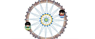 纯CSS3模拟摩天轮旋转动画效果