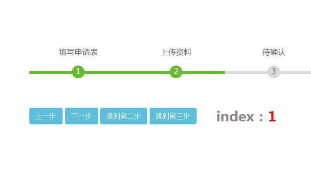jQuery步骤进度条样式代码