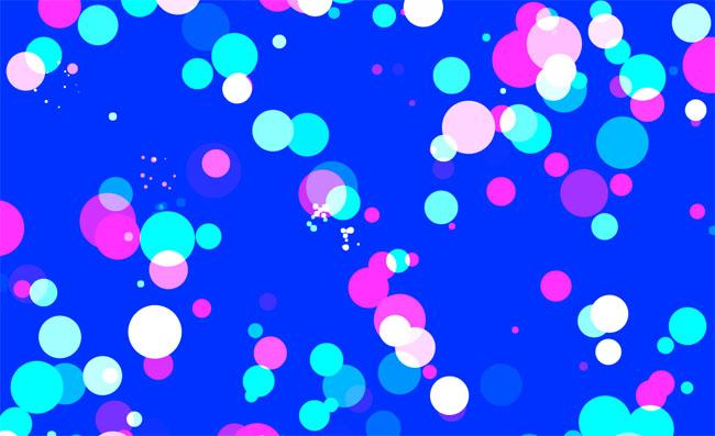 HTML5 Canvas泡泡悬浮鼠标特效