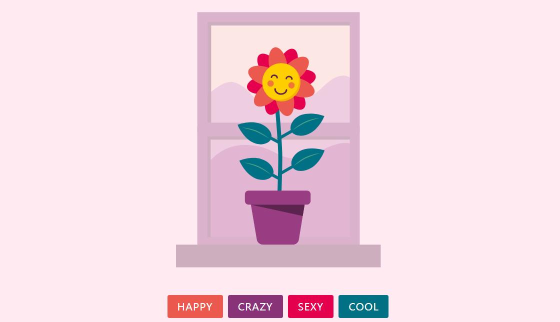 基于html5和svg花朵动画特效