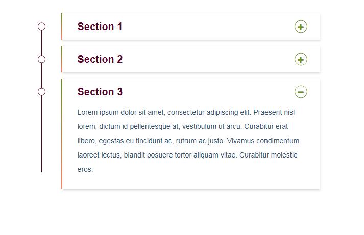 Bootstrap的垂直滑动手风琴菜单切换代码