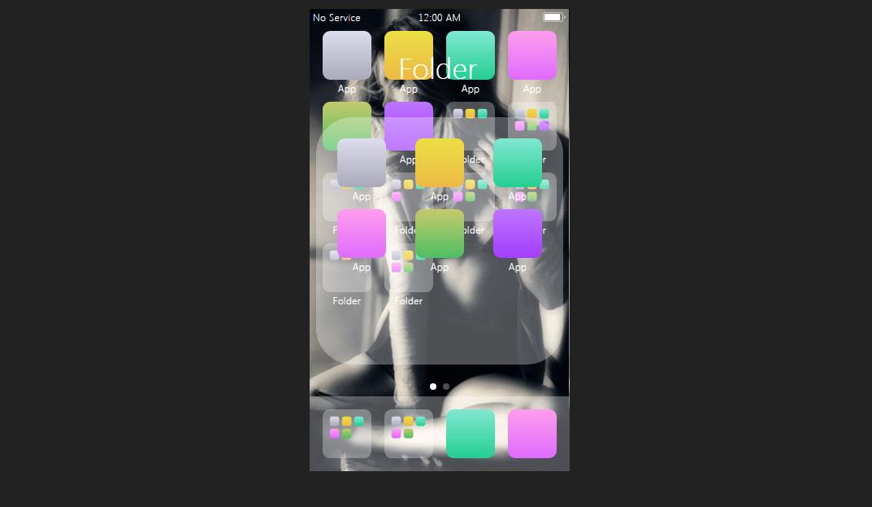 CSS3做出苹果手机iPhone桌面文件夹特效