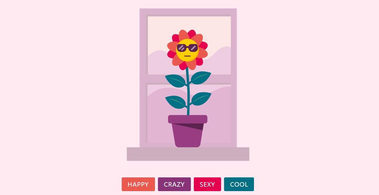 html5实现花朵表情动画特效